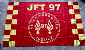 LIVERPOOL JUSTICE FOR THE 97 FOOTBALL FLAG - 5x3 FEET - JFT97 NEVER FORGOTTEN