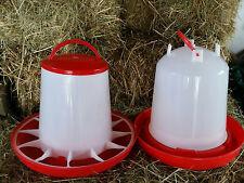 6 Ltr Stülptränke & 6 kg Futterautomat Futterspender Tränke Geflügel Hühner