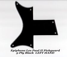 Les Paul II Two 2 LP Black 5-Ply Left Hand Pickguard made for Epiphone Project