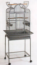 Open Dome Play Top Wrought Iron Bird Small Parrot Cage W/Removable Stand -121
