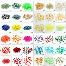 Wholesale 200pcs 4mm Bicone Faceted 5301# Crystal Glass Loose Spacer Beads