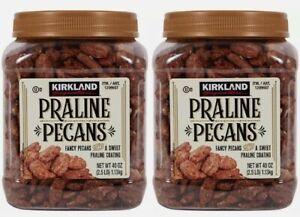 2 x Kirkland Signature Kosher Praline Pecans 2.5 LB (40 Oz.) Each Pack