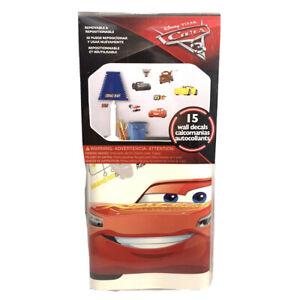 Wall Decals Disney Pixar Movie CARS 3 Lightening McQueen Mater Racing Room Decor