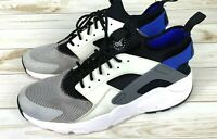 Nike Air Huarache Ultra Mens Shoes White Black Blue Size 13 GUC 819685-100