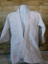Adidas White Blue Stripe Judo Gi Uniform Top JJ350 Size 2/ 160cm Jiu Jitsu