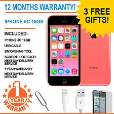 Apple iPhone 5C - 16 GB - Pink (Factory Unlocked) - Grade A Bundle