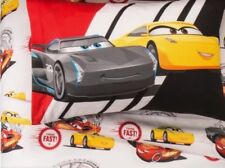 Cars 3 Twin Sheet Set - Red & White NEW
