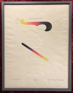"""Original Art Work by Yutaka Takayanagi (Japanese 1941-) """"Aries"""" Zodiac Series"""