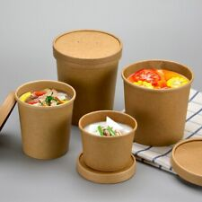 Takeaway 12oz brown paper soup cup or ice cream cup 250pcs