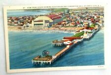 postcard of View from Ocean Showing Auditorium & Covention Hall, Atlantic City,