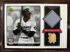 2001 UD Game Used Bat & Jersey Michael Jordan Barons Baseball #MJ-BJ