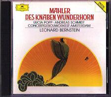 Leonard BERNSTEIN: MAHLER Des Knaben Wunderhorn CD Lucia POPP Andreas SCHMIDT DG