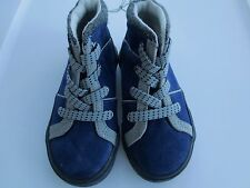 NEW Boy Toddler 10 OLD NAVY Faux Suede High-Top Shoes Blue Gray Sneaker Slip-On