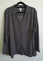 Croft & Barrow Women's Long Sleeve Top PLUS Size 3X - Black