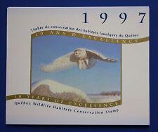 Canada (QU10s) 1997 Quebec Wildlife Habitat Conservation Stamp (MNH) SBA