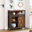 VASAGLE Kommode Küchenschrank Sideboard Flurschrank+Schiebetür vintage LSC089B01