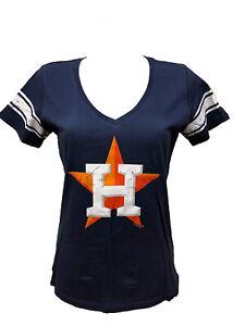 G-III 4her Houston Astros Women's Ballpark V-Neck T-Shirt - Navy