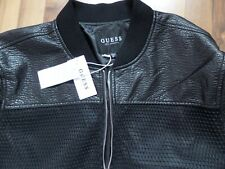 GUESS MEN'S Shade Bonded Mesh Bomber Jacket PERFORATED-LOOK BOMBER-LOS ANGELS