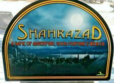 SHAHRAZAD Slot Machine Casino Topper Insert, Glass in good Shape
