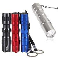 1pc-5pcs 3W Super Bright Police LED Flashlight Torch Light Lamp AA With Strap GA