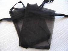 Organza Schmuckbeutelchen 5,5x7,5cm schwarz 5 Stück SERAJOSY Schmucksäckchen