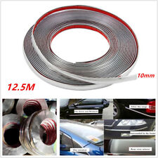 12.5m Chrome 3M Adhesive Car Door Body Edge Moulding Trim Guard Strip Protector