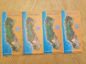 (4) VINTAGE 1982 83 86 91 AAA Auto Club California State Highway Road Map Guide