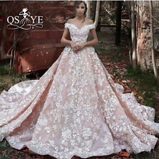 White Ivory Bridal Wedding Dress Lace Gown Custom Size 6 8 10 12 14 16 18