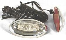 Oval LED lado repetidores de luces con cromo envolvente