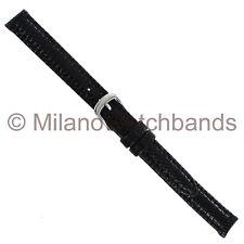 10mm Di-Modell Indiana Genuine Lizard Black Stitched Ladies Watch Band Regular