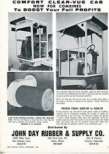 1967 Dealer Print Ad of John Day Rubber Clear-Vue John Deere Tractor Combine Cab