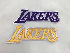 """LA Lakers Purple+Yellow 1 set Embroidered Patch (8.8""""x3.1"""")"""