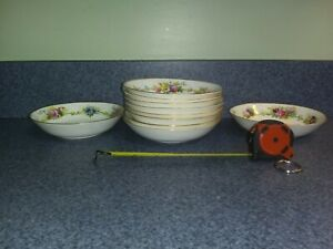 Cauldon England Hand Painted Artist Signed S Pope Cereal Bowls