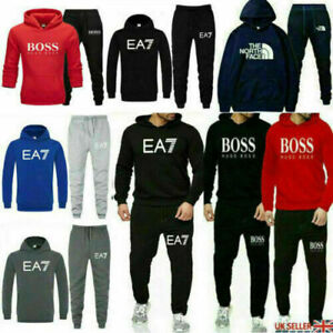 Men's Tracksuit Set 2Pcs Hoodies Sweatshirt Pants Bottoms Sport Set Jogging Suit