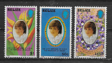 BELIZE , 1982 , PRINCESS DIANA ,  21ST BIRTHDAY , SET OF 3 , PERF ,  VLH