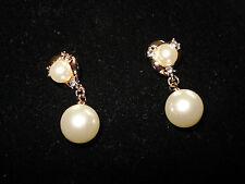 gold pearl drop earrings stunning