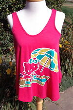 Juniors Hello Kitty Fuschia Tank w/ unique back Sz M $29.50 - NWT