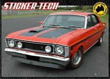 1969 TO 1970 XW GT HO FORD FALCON SIDE STRIPE KIT WITH SUPER ROO STICKER DECAL