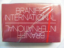 Vintage Braniff International Airlines Burgandy Playing Cards Unopened Mint