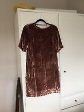 Silk Velvet Dress, Toast, Size 8
