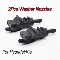 2Pcs For Hyundai i30 Cadenza Front Windscreen Washer Jet Nozzles OE# 986302L100