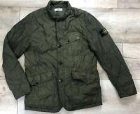 Auth Men's STONE ISLAND Garment Dyed Nylon Tela Quilted Khaki Jacket Size L/XL