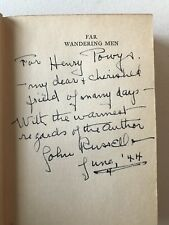 John Russell - FAR WANDERING MEN Signed/Inscribed 1929 First Edition Literature