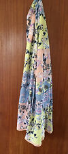 M&S Ladies Blue, Pink & Yellow Floral Long Length Scarf / Shawl /  Wrap