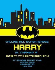 Batman Theme Invitation