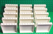 Lego New Bulk Lot White Panel 1x6x5 City Building Parts X15 Pieces