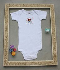CARTER's White Flowers Fashion Baby Girl Bodysuit - SIZE 12 MONTHS *NEW*