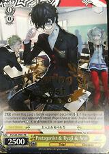 Protagonist & Ryuji & Ann - P5/S45-PE01 PR 1x Near Mint Weiss Schwarz