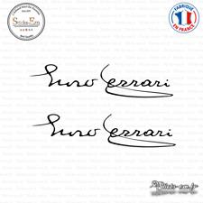 2 Stickers Enzo Ferrari Decal Aufkleber Pegatinas FER04 Couleurs au choix