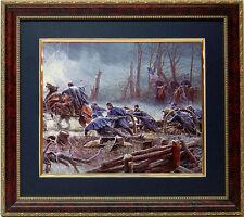 Civil War Print Mud March Art  By Mort Kunstler Framed